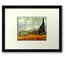 Landscape by Vincent Van Gogh Framed Print