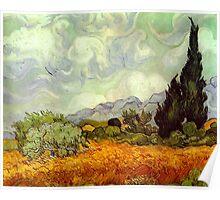 Landscape by Vincent Van Gogh Poster
