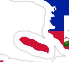 Haiti Flag Map Sticker