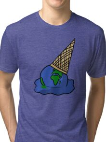 Melting Ice Cream/Earth Tri-blend T-Shirt