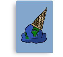Melting Ice Cream/Earth Canvas Print