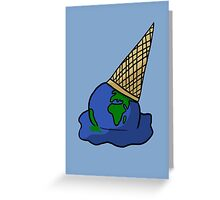Melting Ice Cream/Earth Greeting Card