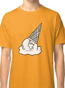White Melting Ice Cream/Earth Classic T-Shirt