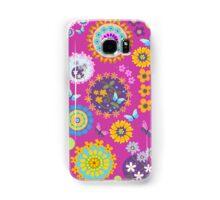Flower circles and cute Butterflies case Samsung Galaxy Case/Skin