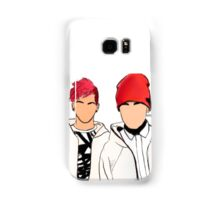 Twenty One Pilots Tumblr Inspired Outline w/Color Samsung Galaxy Case/Skin