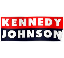 1960 Vote Kennedy Johnson Poster