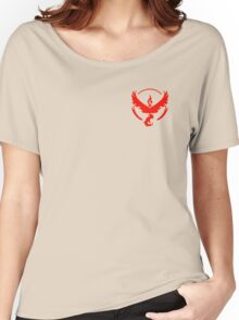 Pokemon Go | Team Valor | Black Background | Small | New! | High Quality! Women's Relaxed Fit T-Shirt