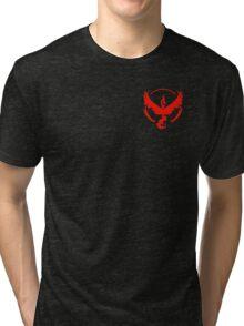 Pokemon Go   Team Valor   Black Background   Small   New!   High Quality! Tri-blend T-Shirt