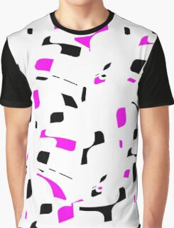Simple black, purple and white design Graphic T-Shirt