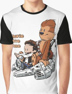 Chewie And Han Calvin And Hobbes Graphic T-Shirt