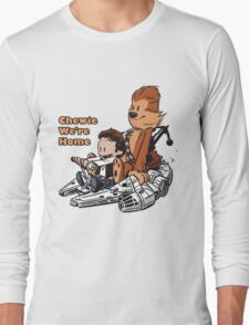 Chewie And Han Calvin And Hobbes Long Sleeve T-Shirt