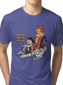 Chewie And Han Calvin And Hobbes Tri-blend T-Shirt