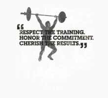 Respect the training, Honor the commitment, Cherish the results Kids Tee