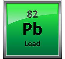 Lead Periodic Table Element Symbol Photographic Print