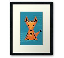 Little Fox, foxy, animal, autumn, forest, wild Framed Print