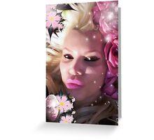 Pink Rose Lady Greeting Card