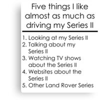 5 Things I Like - Series 2 Canvas Print