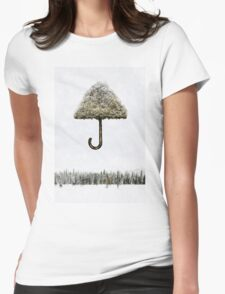 Tree Umbrella Womens Fitted T-Shirt