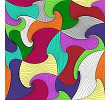 Geometric Rainbow Photographic Print