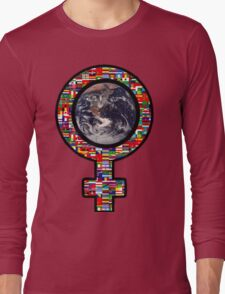 Girl World: Your Mind Is Greater Than Any Weapon Long Sleeve T-Shirt