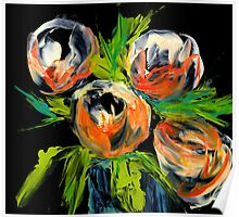Abstract Tulips Bulbs Poster