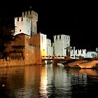 The Castle of Sirmione by night by annalisa bianchetti