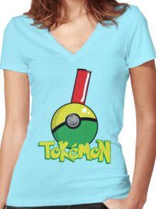 Tokemon GO Women's Fitted V-Neck T-Shirt