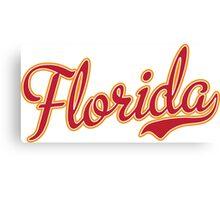 Florida Script Crimson  Canvas Print