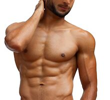 Athletic guy with perfect torso by Bruno Beach
