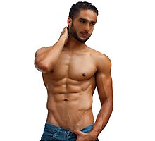 Athletic guy with perfect torso Photographic Print