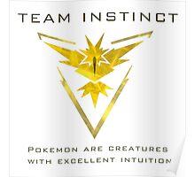 Pokemon Go! Team Instinct Poster