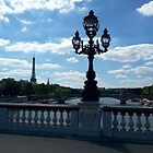 Paris with Eiffeltower and American church, view from Pont Alexander III by Robert Elfferich