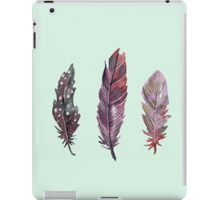 Watercolor feathers (mint green) iPad Case/Skin