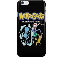 Rick and morty - parody pokemon iPhone Case/Skin