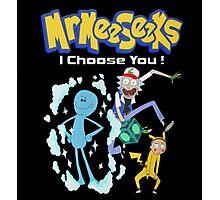 Rick and morty - parody pokemon Photographic Print