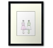 Two BEST Friends Framed Print