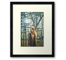 Portrait of Young Hipster Woman Framed Print