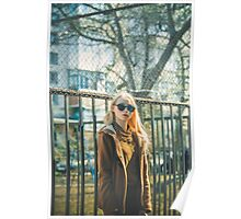 Portrait of Young Hipster Woman Poster