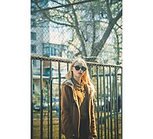 Portrait of Young Hipster Woman Photographic Print