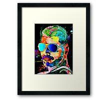 Queen Singer FM Grunge Framed Print
