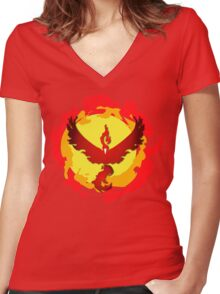 Team Valor and The Fire Within! Women's Fitted V-Neck T-Shirt