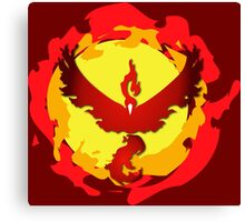 Team Valor and The Fire Within! Canvas Print