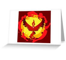 Team Valor and The Fire Within! Greeting Card