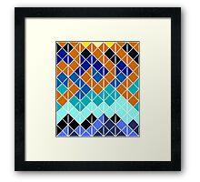 SET & RISE Framed Print