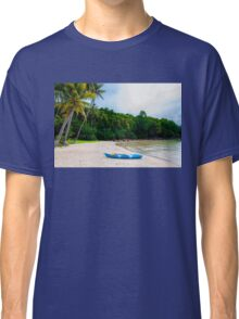 Exotic tropical beach with white sand and blue waters Classic T-Shirt