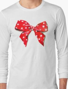 Red bow. Long Sleeve T-Shirt