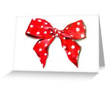 Red bow. Greeting Card