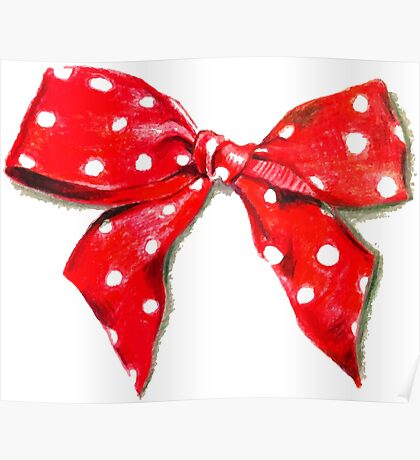 Red bow. Poster