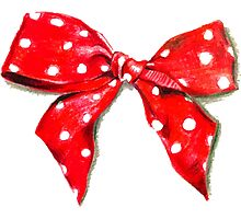 Red bow. Photographic Print