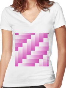 parquet background Women's Fitted V-Neck T-Shirt